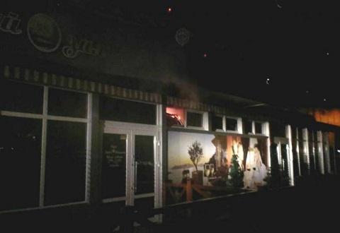 В кафе г. Каменское случился пожар Днепродзержинск