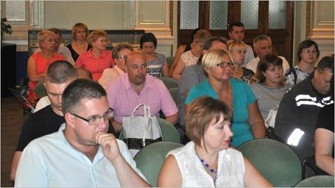 На «ДМК» г. Каменское актив профсоюза говорил о транспорте Днепродзержинск