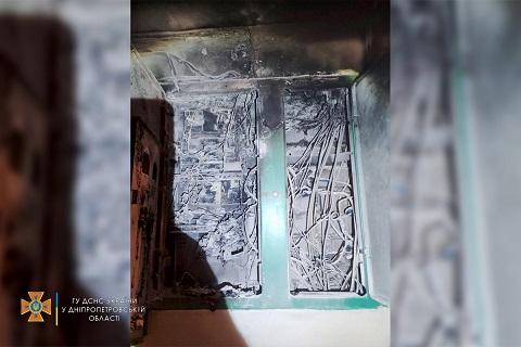 В Каменском ликвидировали пожар в многоквартирном жилом доме Днепродзержинск