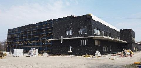 В Каменском продолжается строительство Дворца спорта  Днепродзержинск