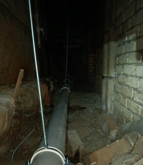 В некоторых жилых домах г. Каменское идёт замена труб канализации Днепродзержинск