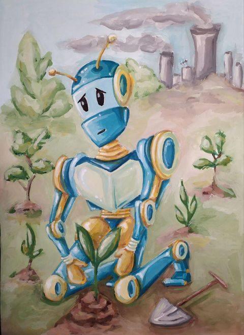 В Каменском провели конкурс рисунков для детей «Робот моей мечты»  Днепродзержинск