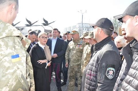 В Каменское с визитом приехала Ю.Тимошенко Днепродзержинск