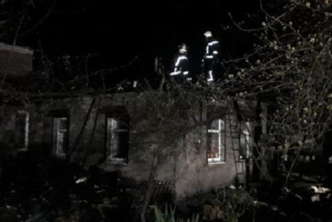В городе Каменское сгорел частный дом  Днепродзержинск