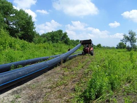 В городе Каменское ведут работы по замене магистрального водопровода  Днепродзержинск