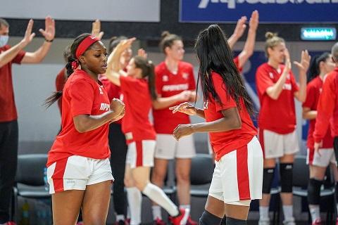 В Каменском прошел первый матч в 2021 году женской Суперлиги по баскетболу Днепродзержинск