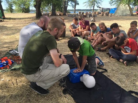 В Каменском провели тренинг представители Медицинского Корпуса Днепродзержинск