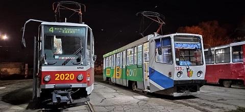 В Каменском вагоны трамвая № 4 курсируют по сокращённому маршруту Днепродзержинск