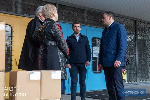 Основная госпитальная база г. Каменское получила новую партию защитных и дезинфицирующих средств  Днепродзержинск