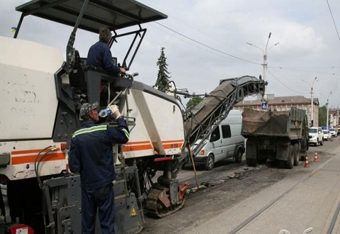 Ремонт центрального проспекта в Каменском продолжается Днепродзержинск