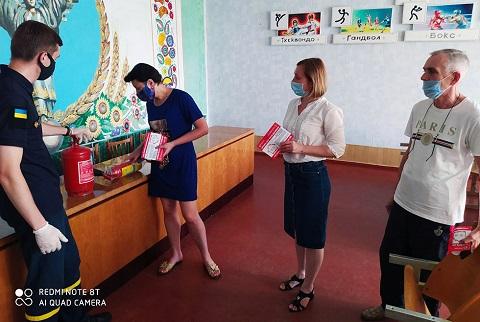 Спасатели города Каменское провели лекционное занятие в ДЮСШ № 1 Днепродзержинск