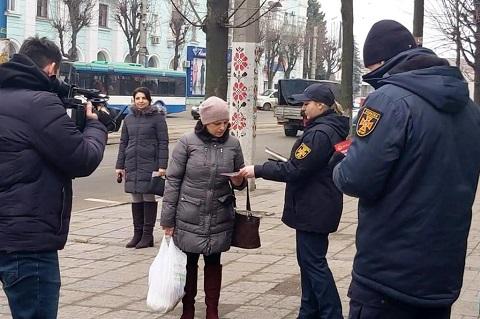 Спасатели Каменского провели работу с жителями города Днепродзержинск
