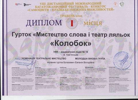 Юные актёры г. Каменское одержали победу на международных фестивалях Днепродзержинск