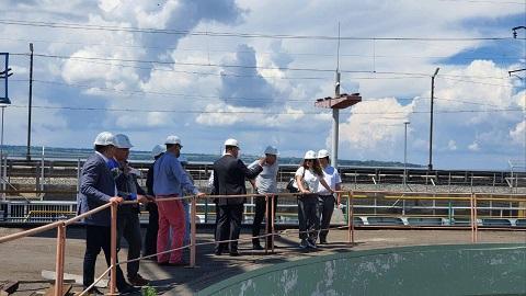 На Среднеднепровской ГЭС г. Каменское побывало руководство «Укргидроэнерго» Днепродзержинск