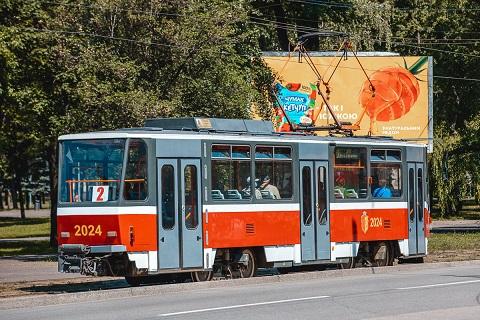 В Каменском трамвай № 2 будет двигаться по сокращённому маршруту Днепродзержинск