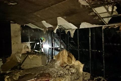 В Южном районе г. Каменское горел дом Днепродзержинск