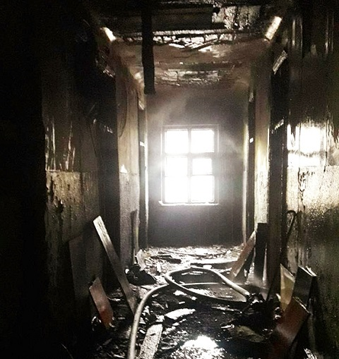 Спасатели ГПСЧ № 8 ликвидировали пожар в Южном районе г. Каменское Днепродзержинск