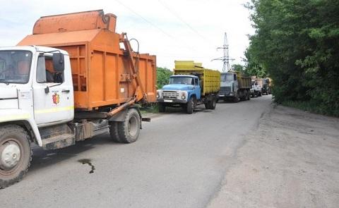 В Каменском сегодня был заблокирован въезд на свалку Днепродзержинск