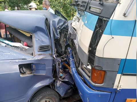 Автобус «Каменское-Днепр» попал в ДТП Днепродзержинск
