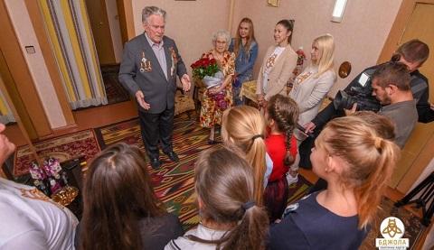 В Каменском поздравили Почетного гражданина города с Днем рождения Днепродзержинск