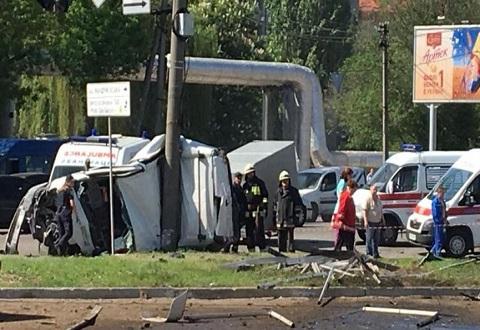 В г. Днепр ДТП с массовым повреждением автомобилей и потерпевшими Днепродзержинск