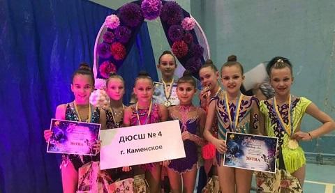 Гимнастки г. Каменское завоевали награды открытого первенства «ASTRA» Днепродзержинск