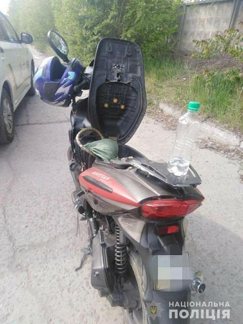 Водитель мопеда в г. Каменское возил с собой гранату Днепродзержинск