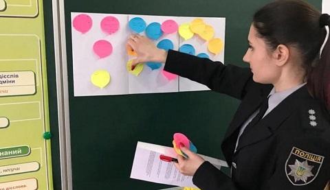 Сотрудники ювенальной полиции г. Каменское провели для школьников тренинг Днепродзержинск