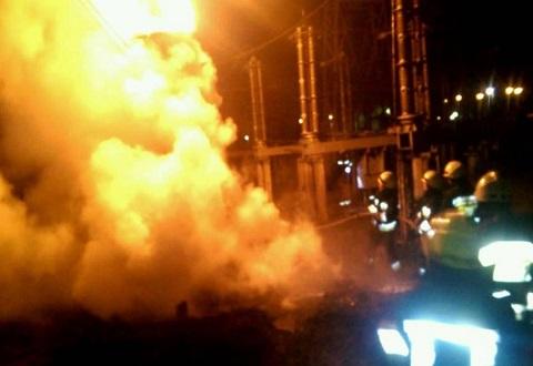 На Приднепровской ТЭС ранним утром произошло возгорание Днепродзержинск