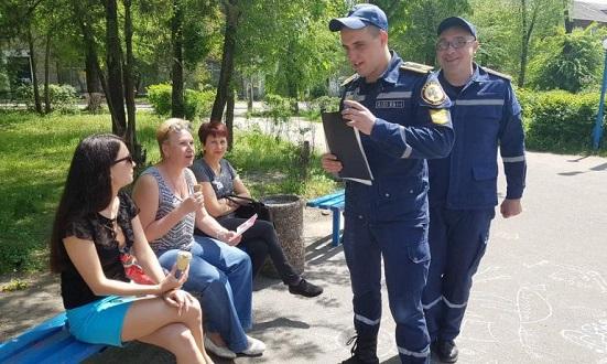 Спасатели г. Каменское провели рейд по территории Днепровского района Днепродзержинск