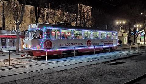 Работа Каменского трамвая Днепродзержинск