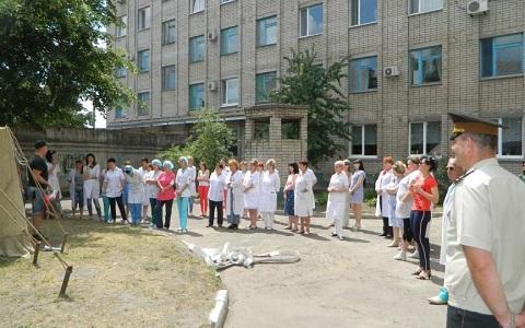 Объектовые учения по ППБ провели на базе ЦПМСП № 1 г. Каменское Днепродзержинск