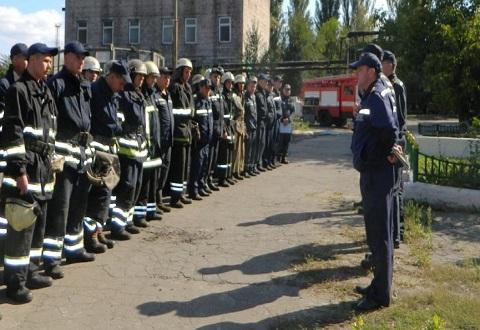 Спасатели Каменского провели тренировки на ТЭЦ Днепродзержинск