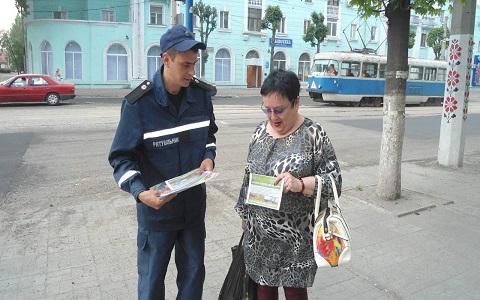Профилактический рейд спасатели Каменского провели в Заводском районе Днепродзержинск