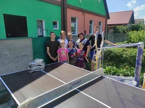 Воспитанникам ДДСТ в г. Каменское приобрели теннисный стол Днепродзержинск