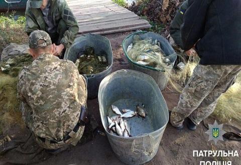 На берегу водохранилища у Каменского задержали браконьеров Днепродзержинск