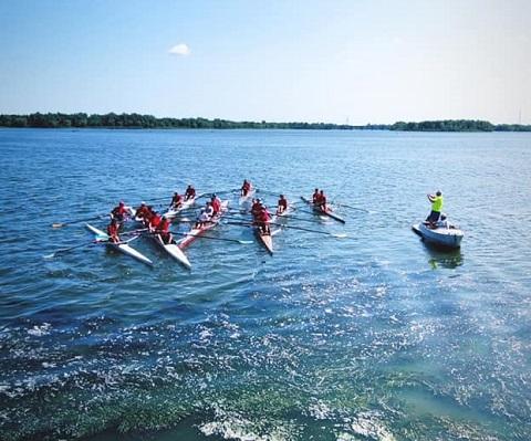 В г. Каменское проводят фестиваль водных видов спорта Днепродзержинск