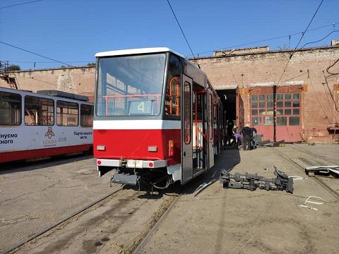 В Каменское из Чехии прибыл ещё один трамвай Днепродзержинск