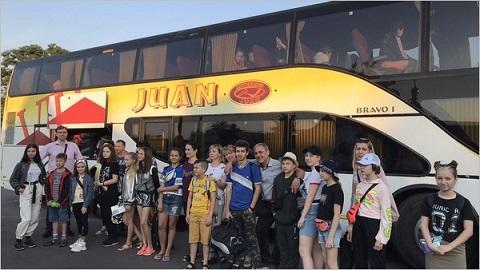 Дети металлургов вернулись в г. Каменское после первой смены в ДОК «Солнечный» Днепродзержинск