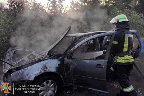 В Каменском районе горел автомобиль Днепродзержинск