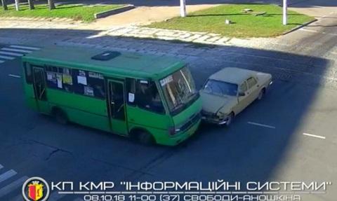 В Каменском автомобиль столкнулся с «Эталоном» Днепродзержинск
