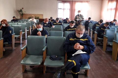 В Каменском психолог провел работу с сотрудниками ГПСЧ № 35 Днепродзержинск