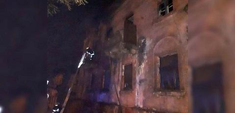 В Каменском ликвидировали пожар в заброшенном здании Днепродзержинск