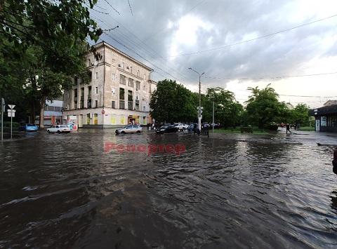 Обильные осадки выпали в г. Каменское  Днепродзержинск