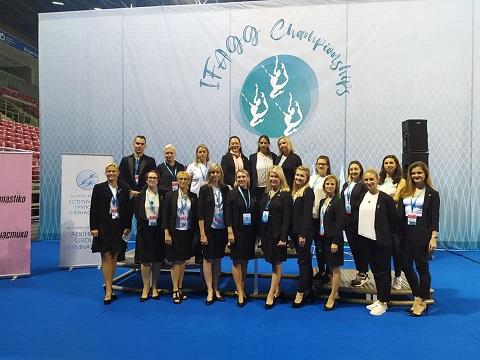 Каменские гимнастки выступили на международных состязаниях Днепродзержинск