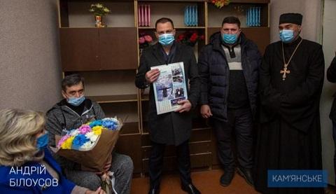 Мэр г. Каменское побывал с поздравлениями в гостях у «Лелеки» Днепродзержинск