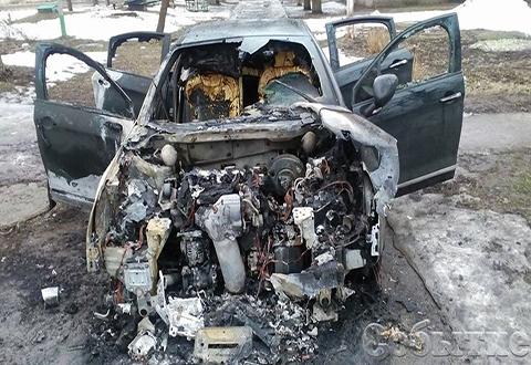 В Каменском сгорел «Citroën C5» Днепродзержинск