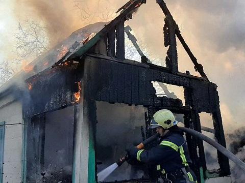 В садовом обществе  «Коксохимик» г. Каменское ликвидировали пожар Днепродзержинск