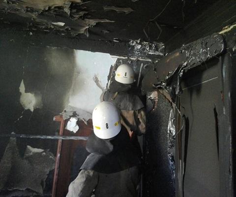 Спасатели г. Каменское ликвидировали пожар в жилой квартире Днепродзержинск