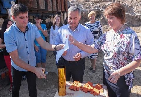 В Романково г. Каменское  заложили фундамент нового детсада Днепродзержинск